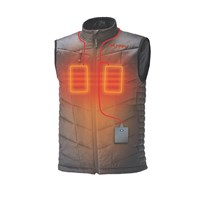Men's Heated Vest with Rechargeable Battery, Dark Gray