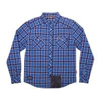Men's Lined Plaid Shirt - Blue