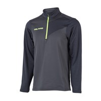 Men's Long-Sleeve Quarter-Zip Pullover with Lime Logo, Gray