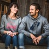 Women's Crew Sweatshirt with Script Polaris® Logo, Gray - Image 3 of 3