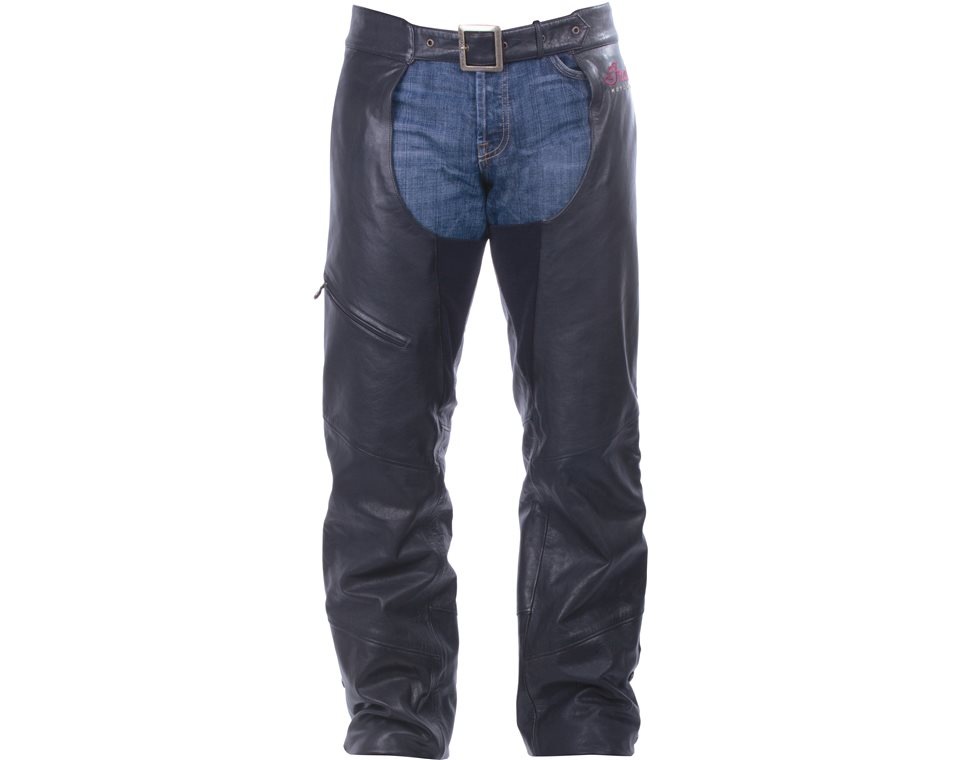 Men's Indian Motorcycle® Chaps - Black Leather