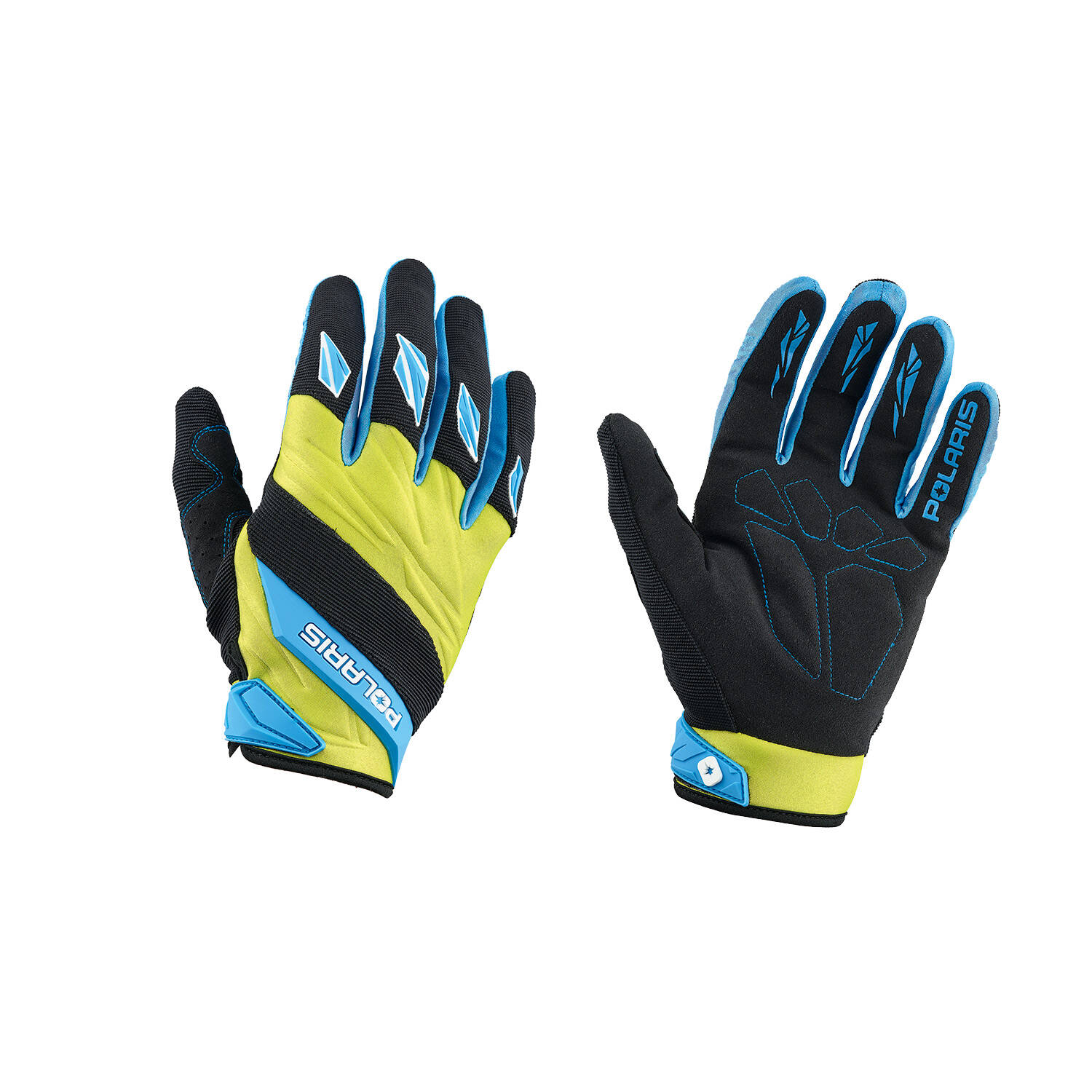 Off-Road Riding Glove - Blue/Lime