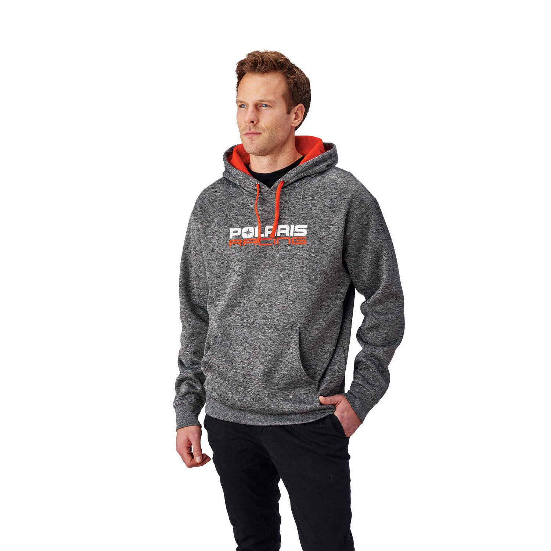 Men's Racing Hoodie Sweatshirt with Polaris® Logo, Gray