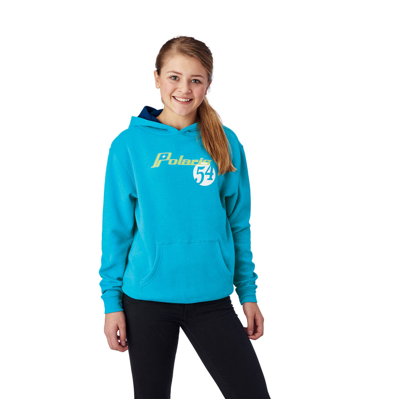 Youth Retro Hoodie Sweatshirt with Polaris® Logo, Blue