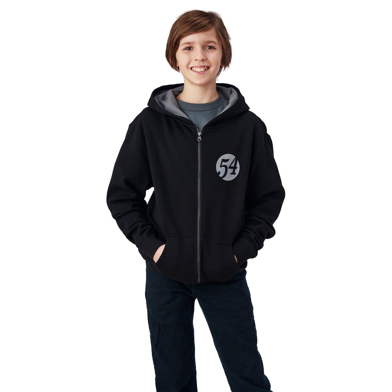 Youth Full-Zip Retro Hoodie Sweatshirt with Polaris® Logo, Black