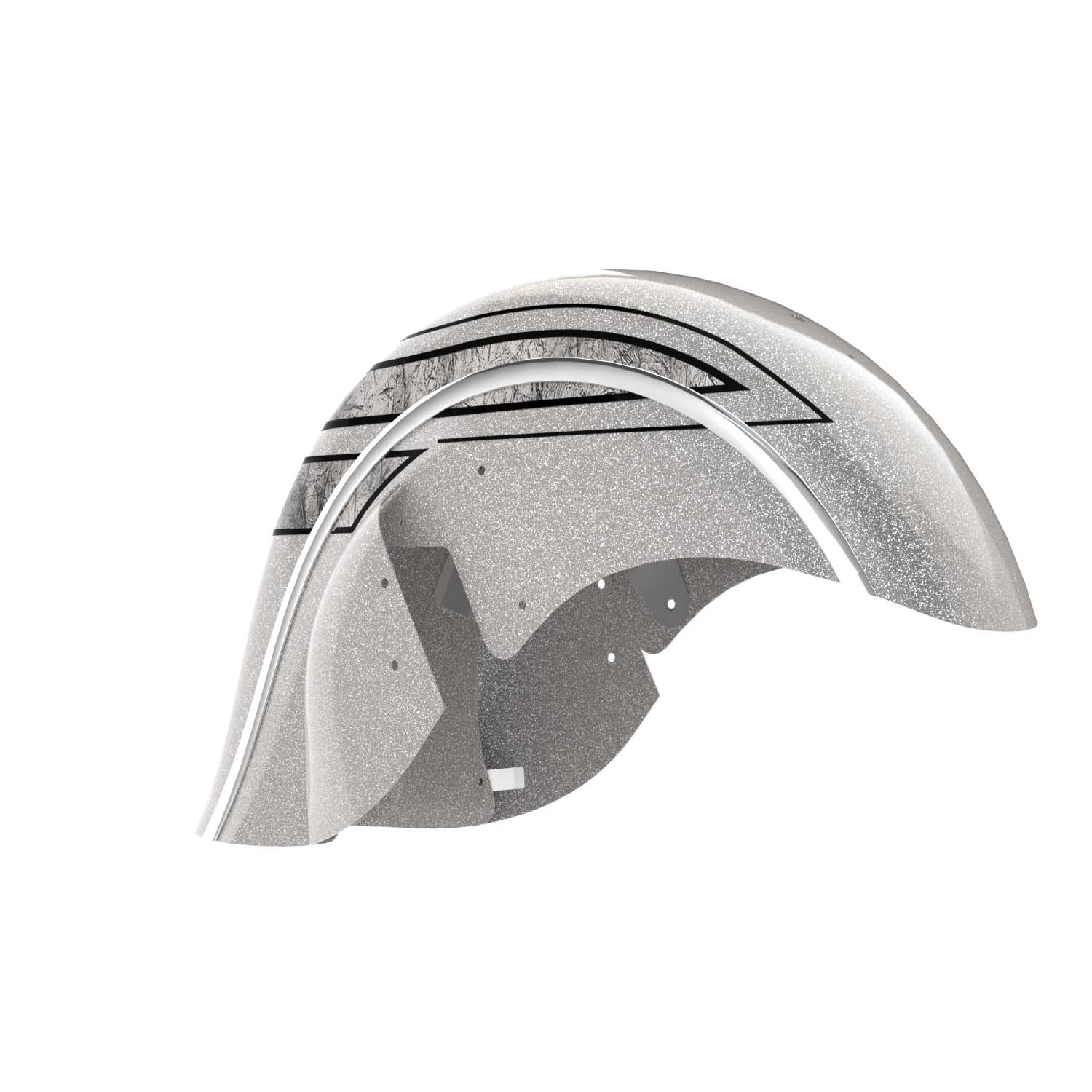 Valance Front Fender - Black Hills Silver with Marble Accents