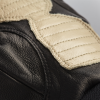 Men's Leather Retro Riding Gloves with Red Stripe, Black - Image 3 of 3