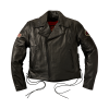Men's Horsehide Leather Liberty Riding Jacket with Removable Lining, Black - Image 1 of 6