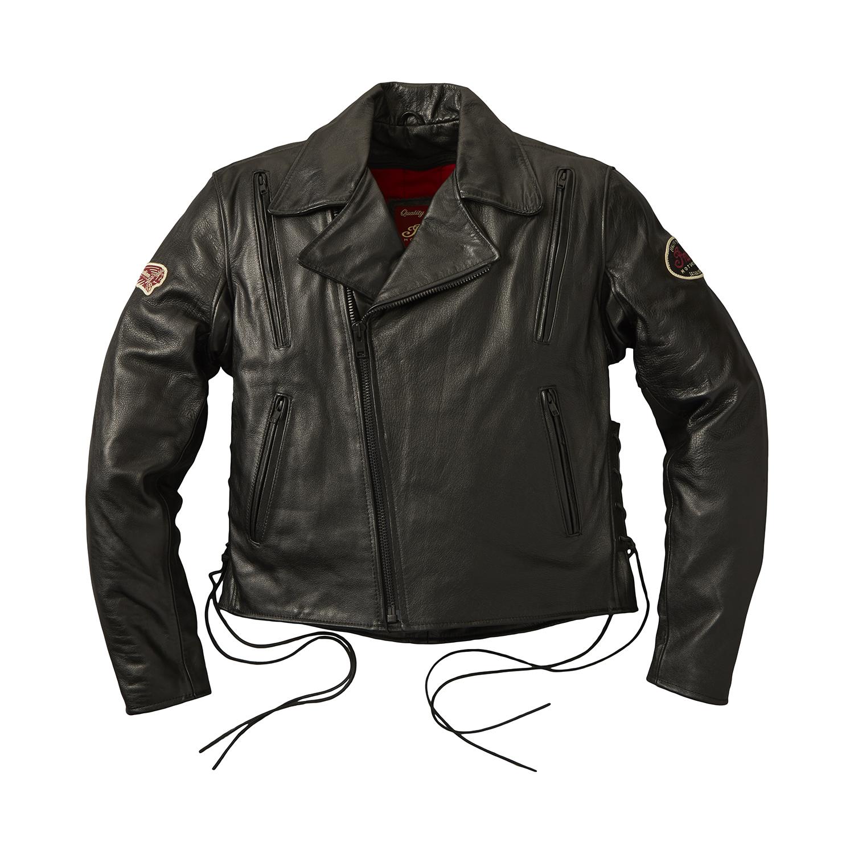 Red Indian Men/'s Classic Biker Fitted Designer Style Black Hide Leather Jacket