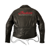 Men's Horsehide Leather Liberty Riding Jacket with Removable Lining, Black - Image 3 of 6