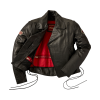 Men's Horsehide Leather Liberty Riding Jacket with Removable Lining, Black - Image 2 of 6