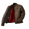 Men's Leather Phoenix Riding Jacket with Removable Lining, Brown - Image 2 of 10