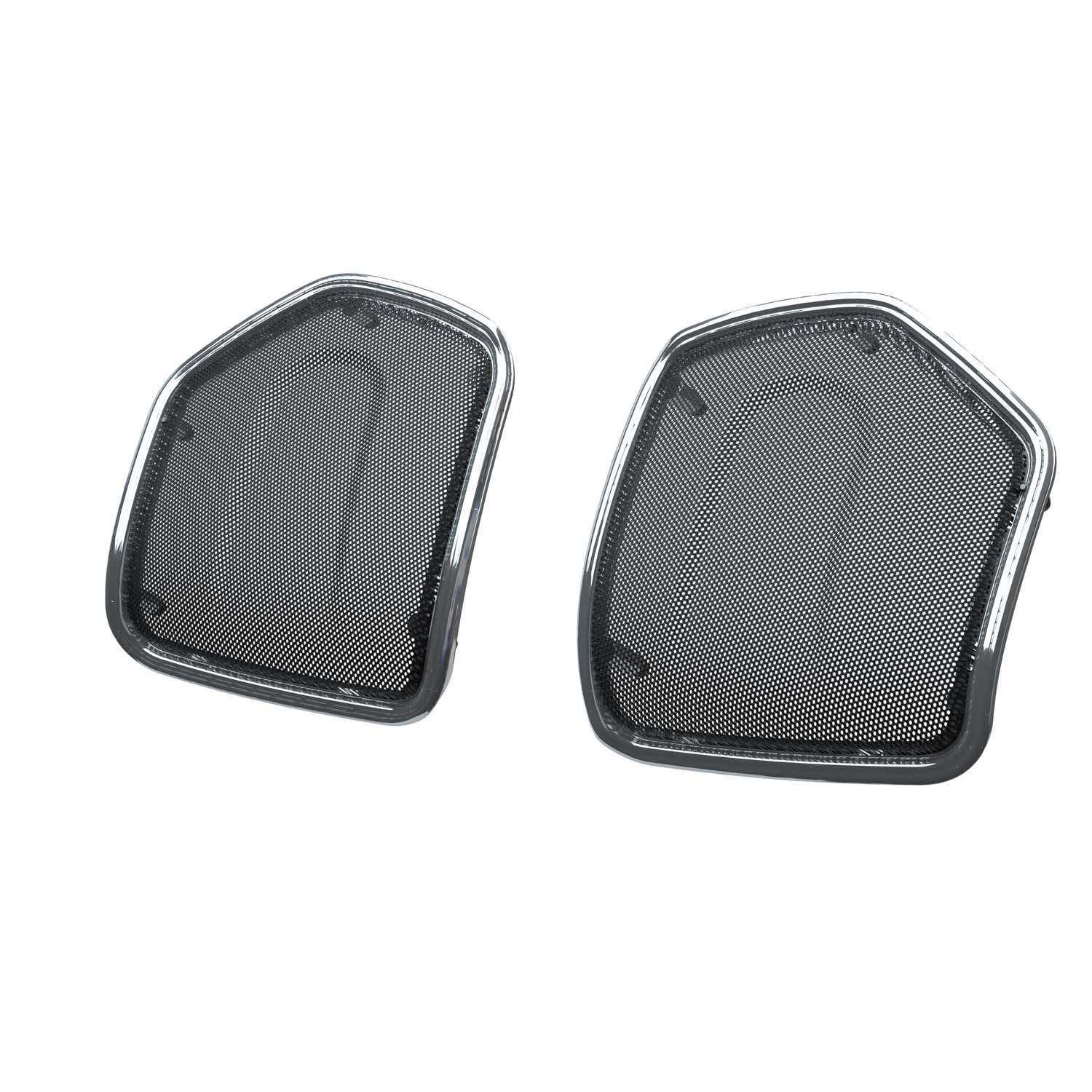 PowerBand Audio Saddlebag Lid Speaker Bezels in Chrome, Pair