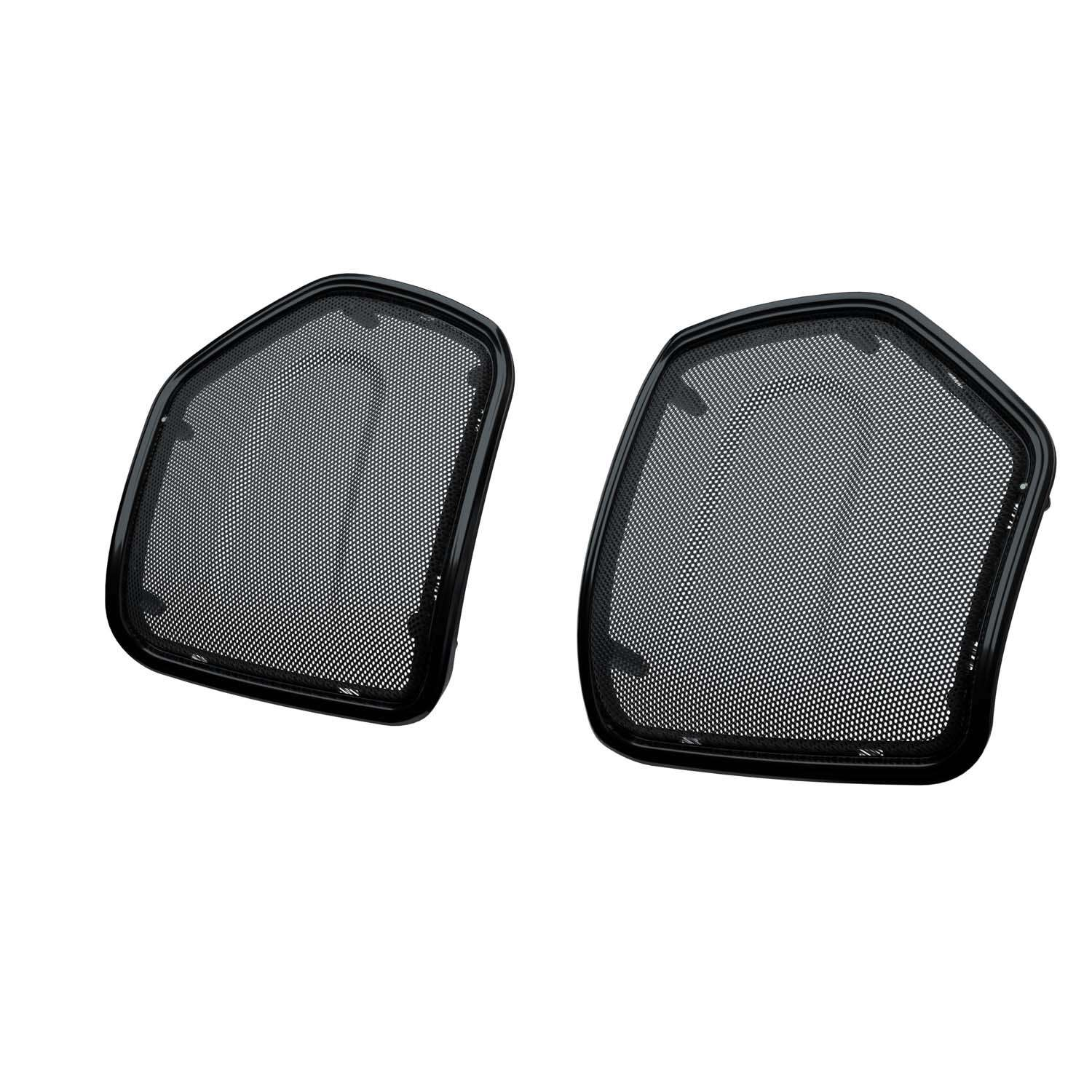 PowerBand™ Audio Saddlebag Speaker Bezels - Thunder Black