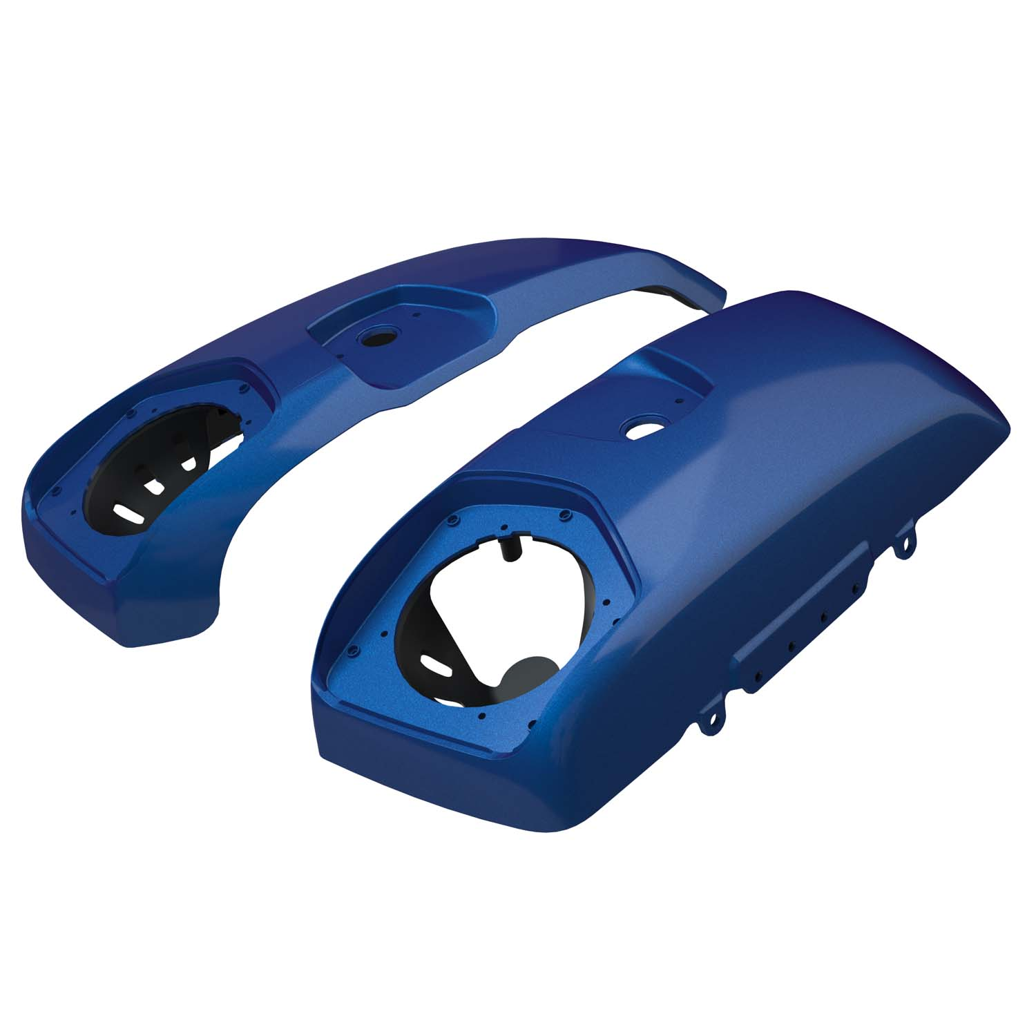 PowerBand™ Audio Saddlebag Speaker Lids - Brilliant Blue