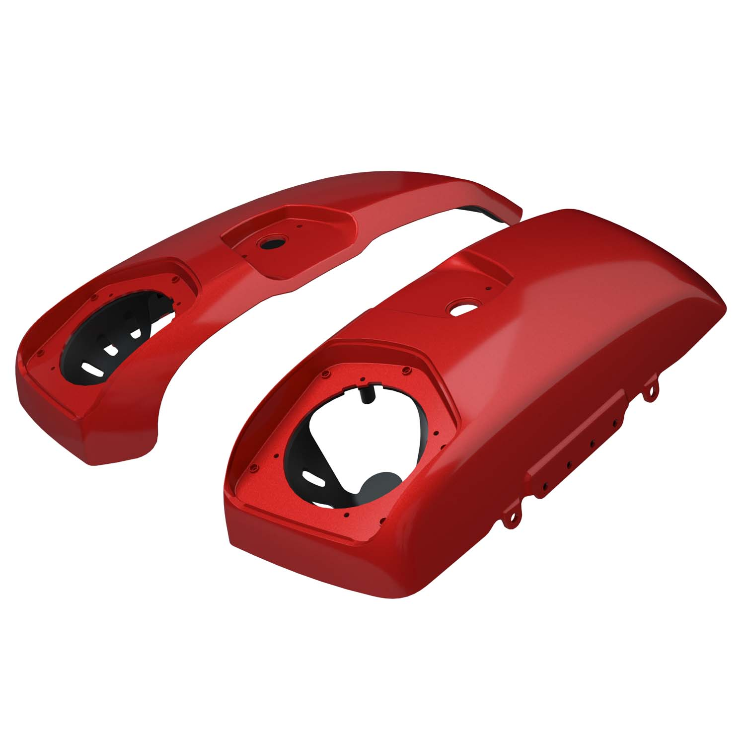 PowerBand™ Audio Saddlebag Speaker Lids - Ruby Metallic