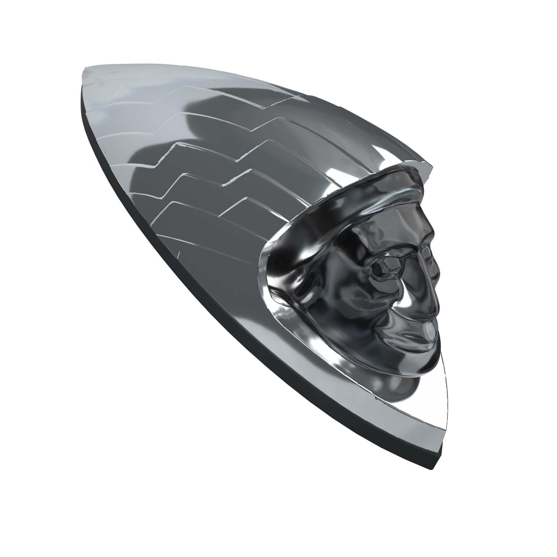 Headdress Fender Emblem - Chrome