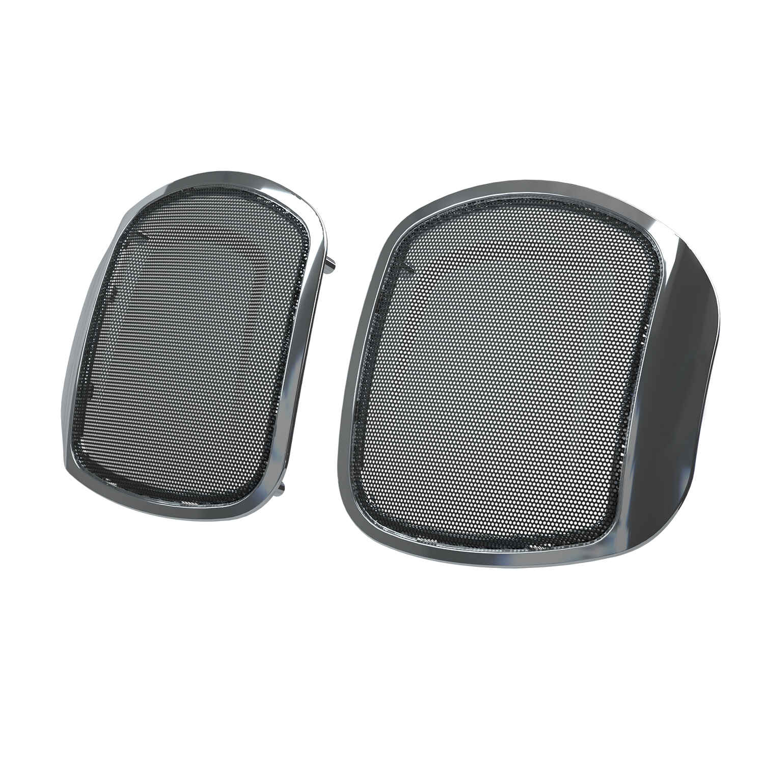 PowerBand™ Audio Classic Saddlebag Speaker Bezels - Chrome