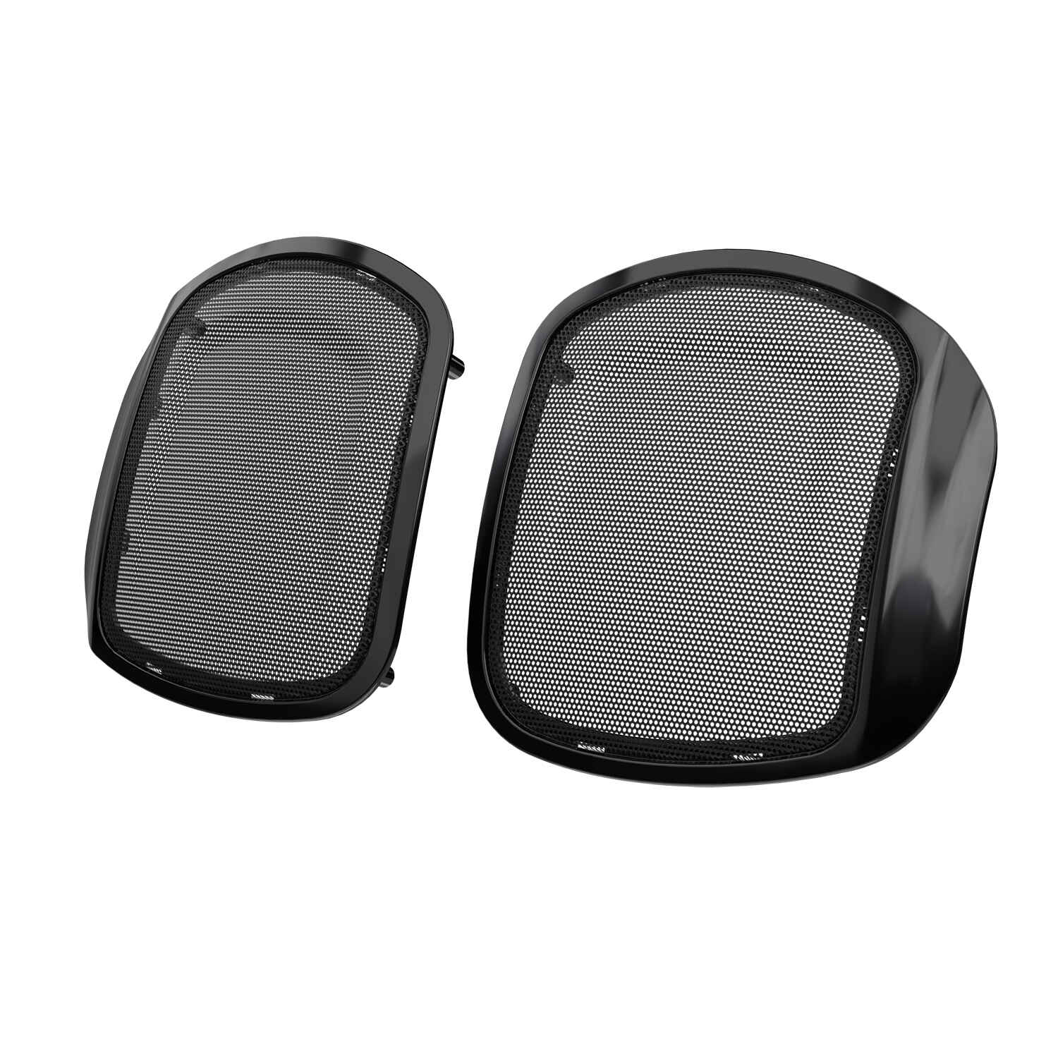 PowerBand™ Audio Classic Saddlebag Speaker Bezels - Thunder Black