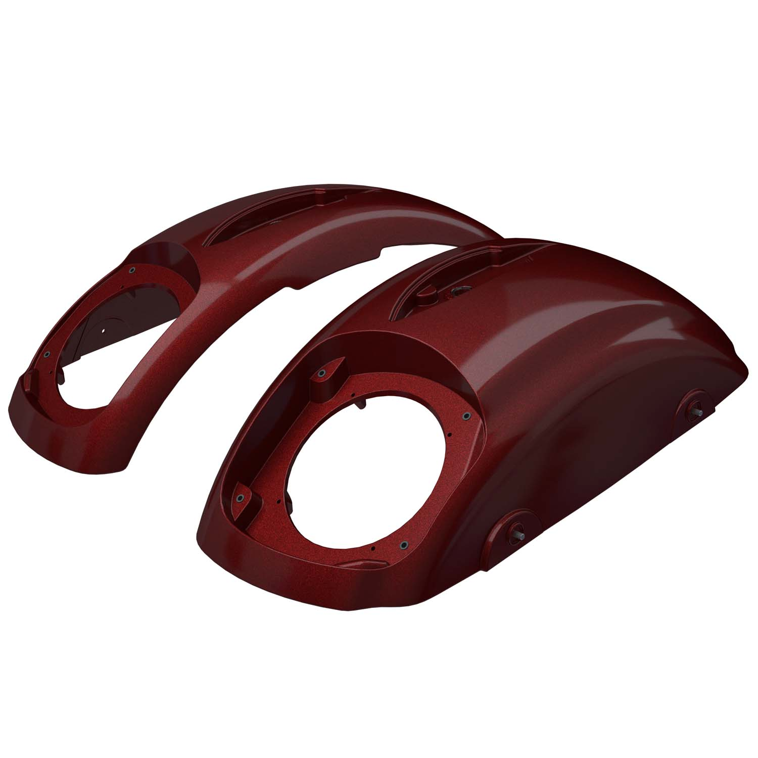 PowerBand™ Audio Classic Saddlebag Speaker Lids - Burgundy Metallic