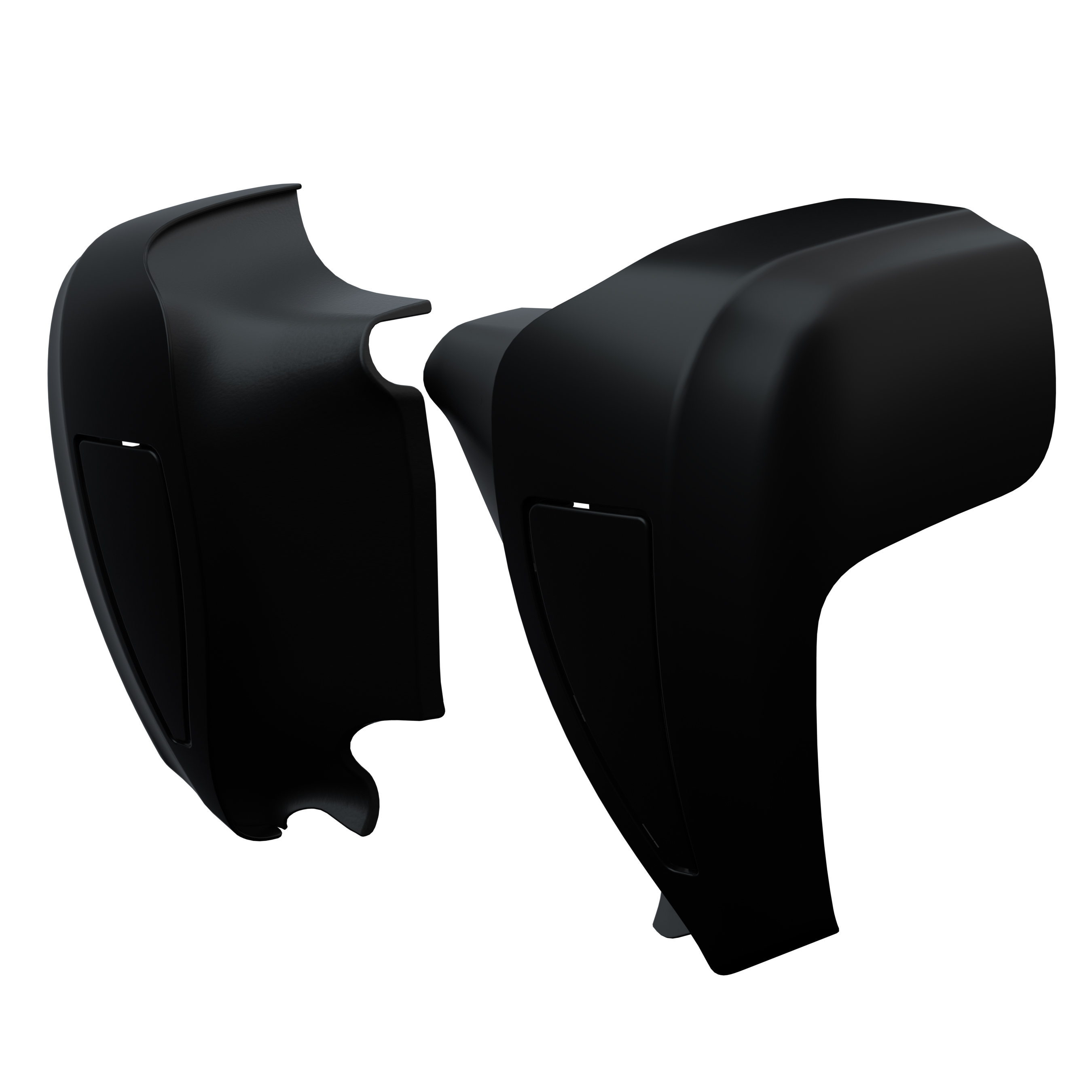 Hard Lower Fairings in Thunder Black Smoke, Pair