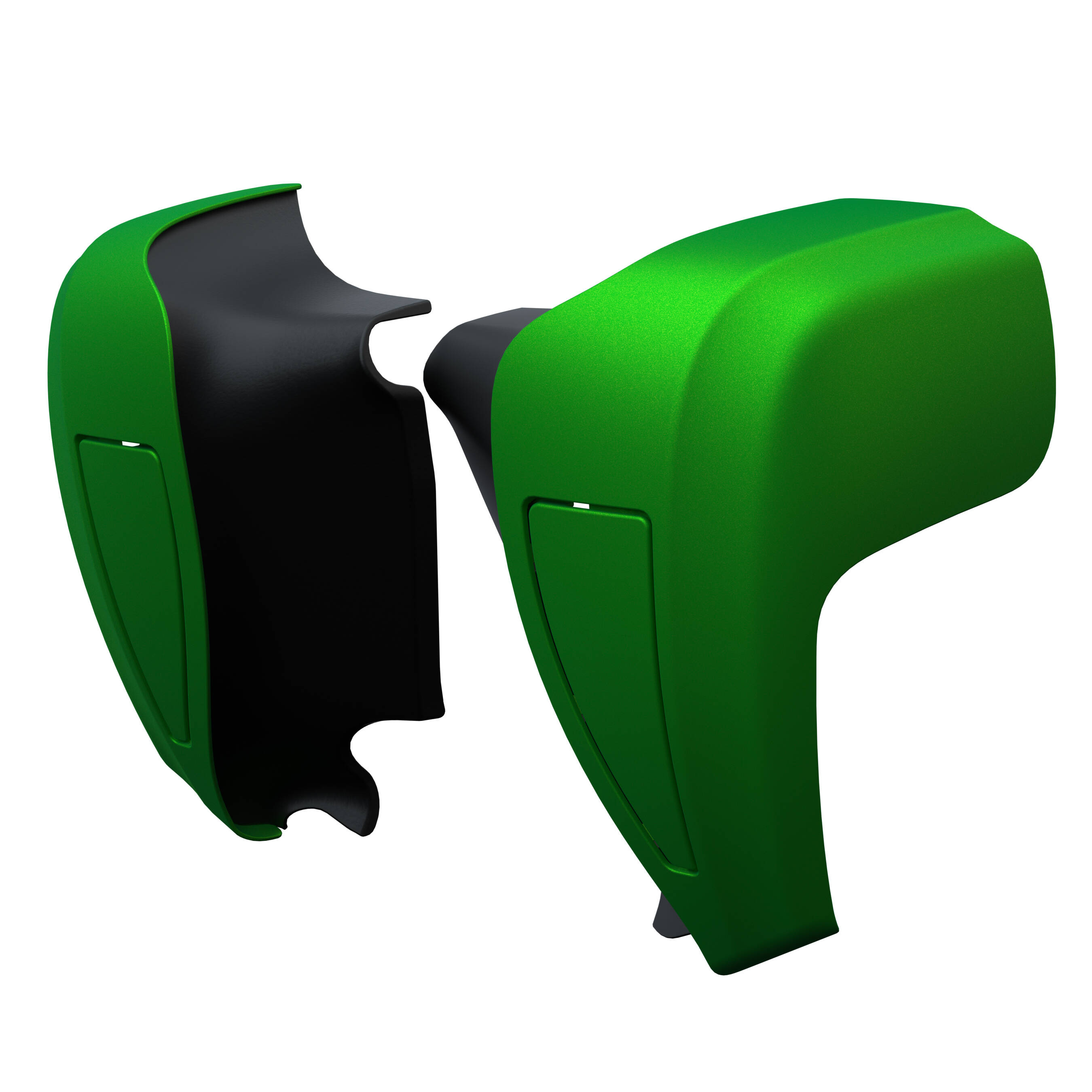 Hard Lower Fairings in Dragon Green, Pair