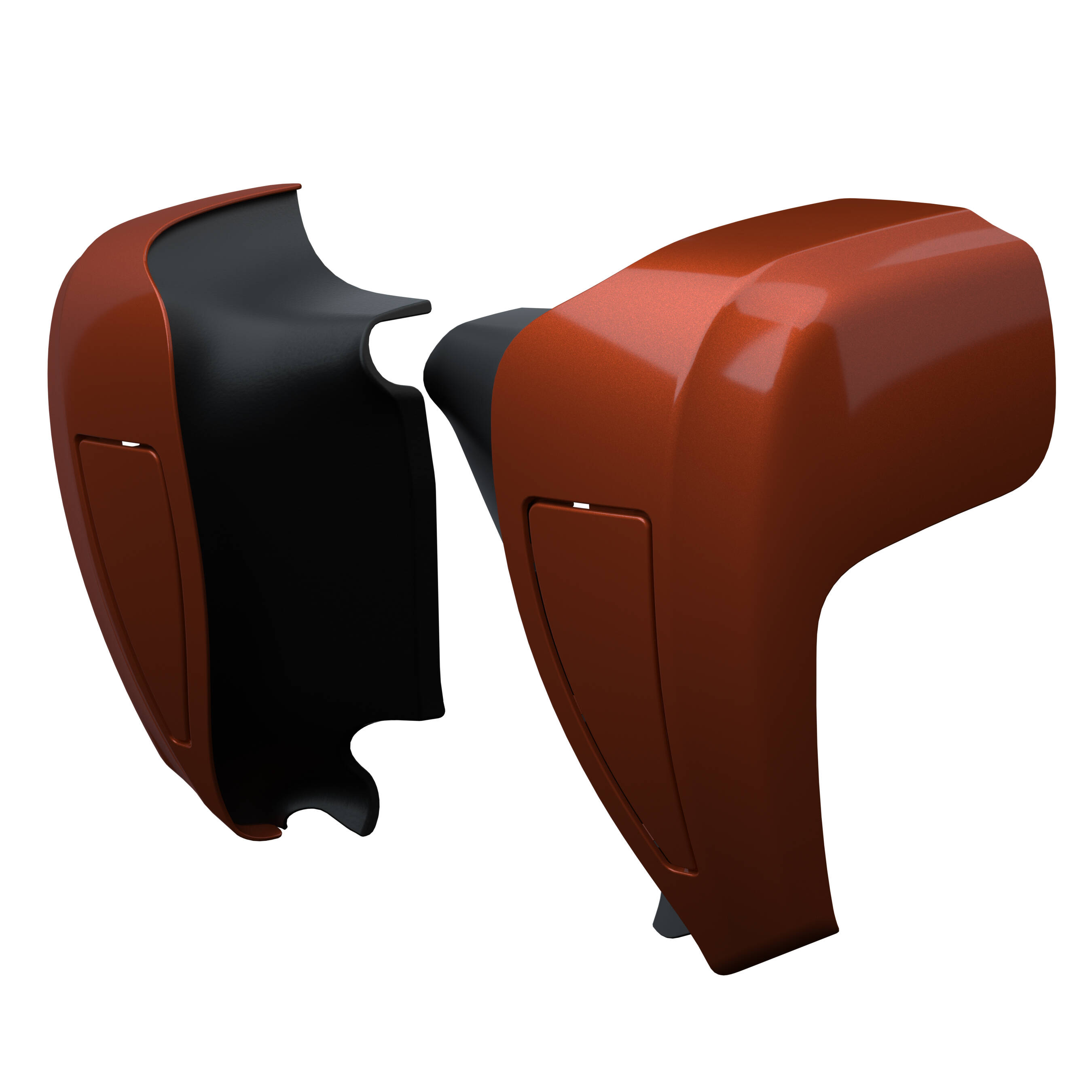 Hard Lower Fairings - Burnt Orange