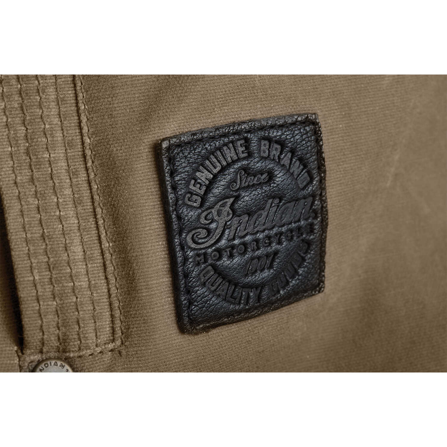 miniature 12 - Indian Motorcycle Men's Waxed Cotton Riding Jacket, Olive