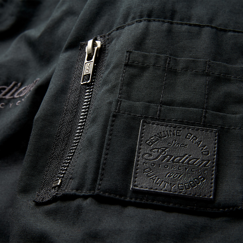miniature 12 - Indian Motorcycle Men's Casual Bomber Jacket, Black