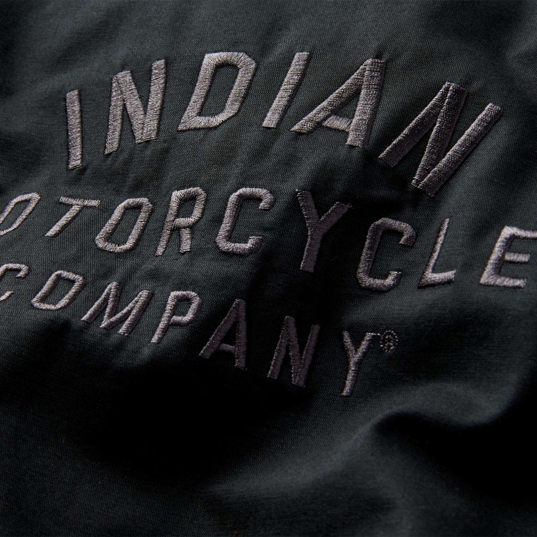 miniature 10 - Indian Motorcycle Men's Casual Bomber Jacket, Black
