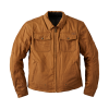 Men's Waxed Cotton Shift Riding Jacket with Removable Lining, Tan - Image 2 of 3