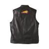 Men's Casual Zip-Up Outsider Leather Vest, Black - Image 2 of 5