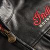 Men's Casual Zip-Up Outsider Leather Vest, Black - Image 4 of 5