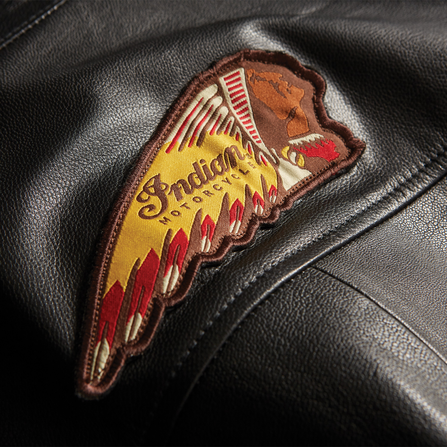 miniature 11 - Indian Motorcycle Men's Casual Zip-Up Outsider Leather Vest, Black
