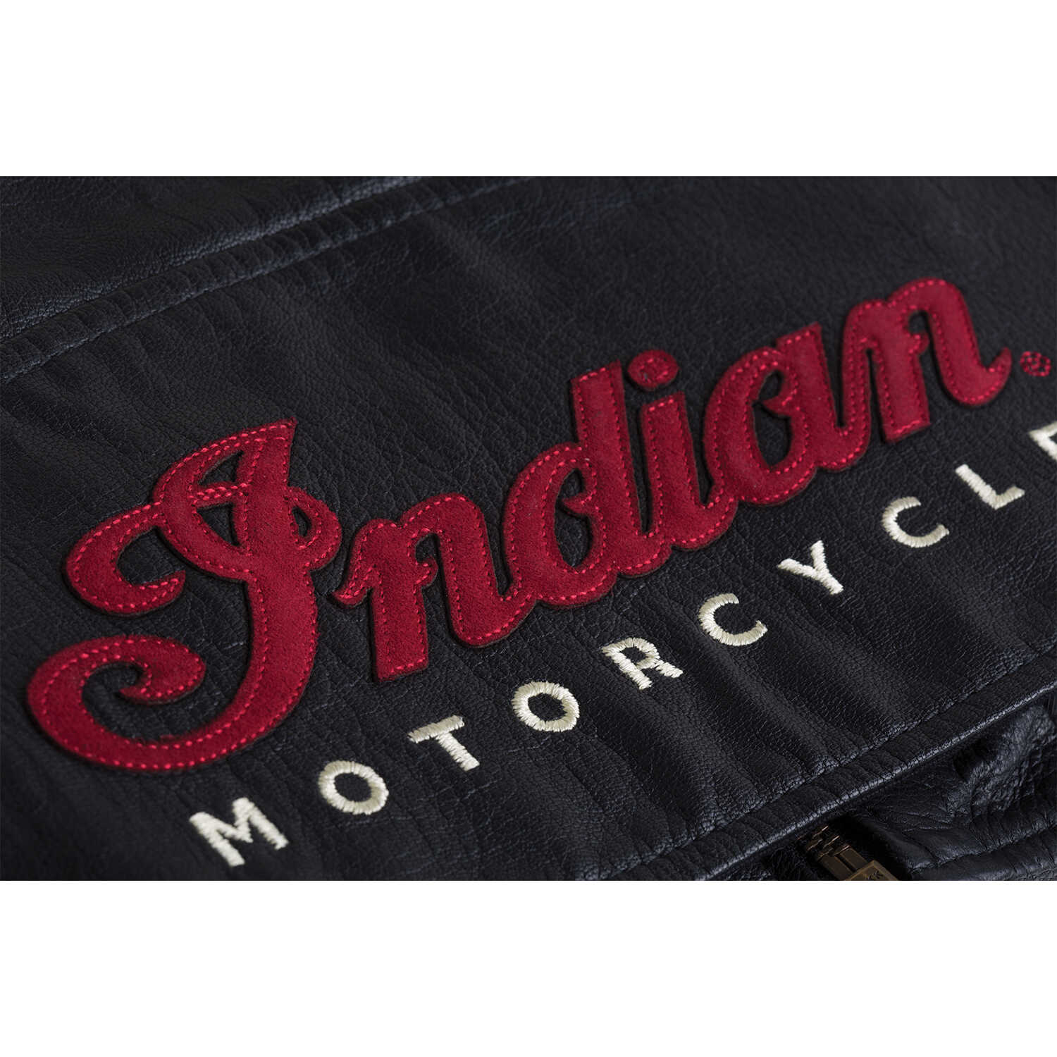 miniature 11 - Indian Motorcycle Women's Casual Zip-Up Leather Vest with Laced Detail