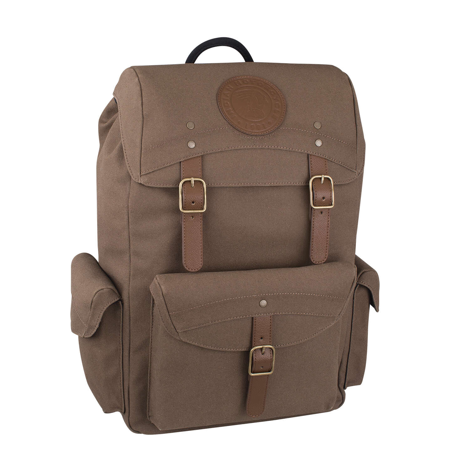 Waxed Cotton Backpack, Olive