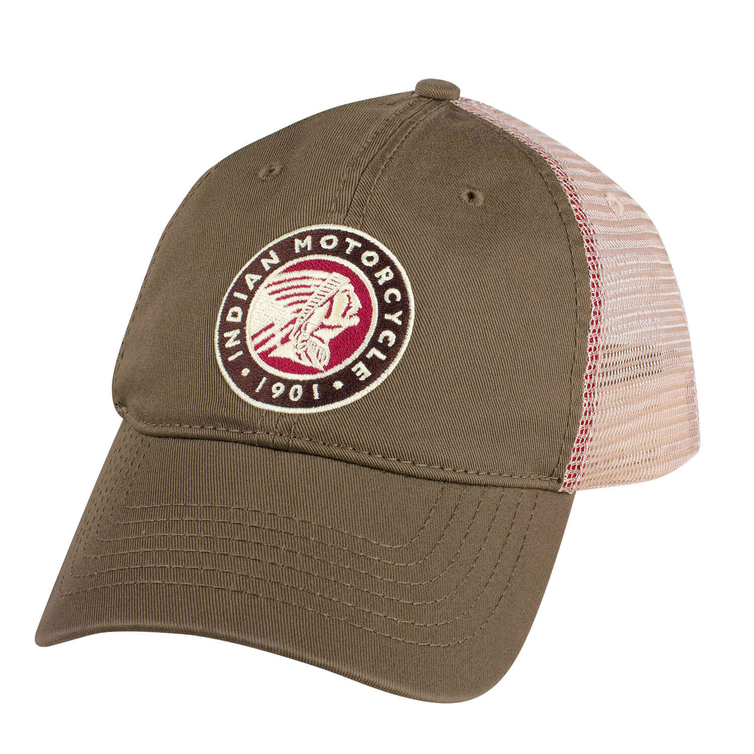Circle Icon Trucker Hat, Olive