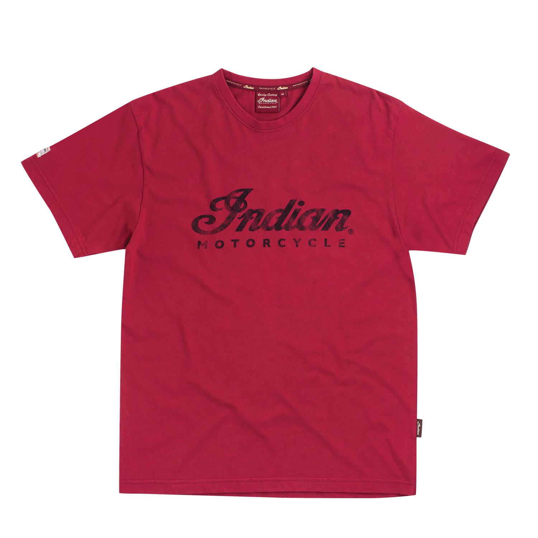 Men's Script Logo T-Shirt, Red