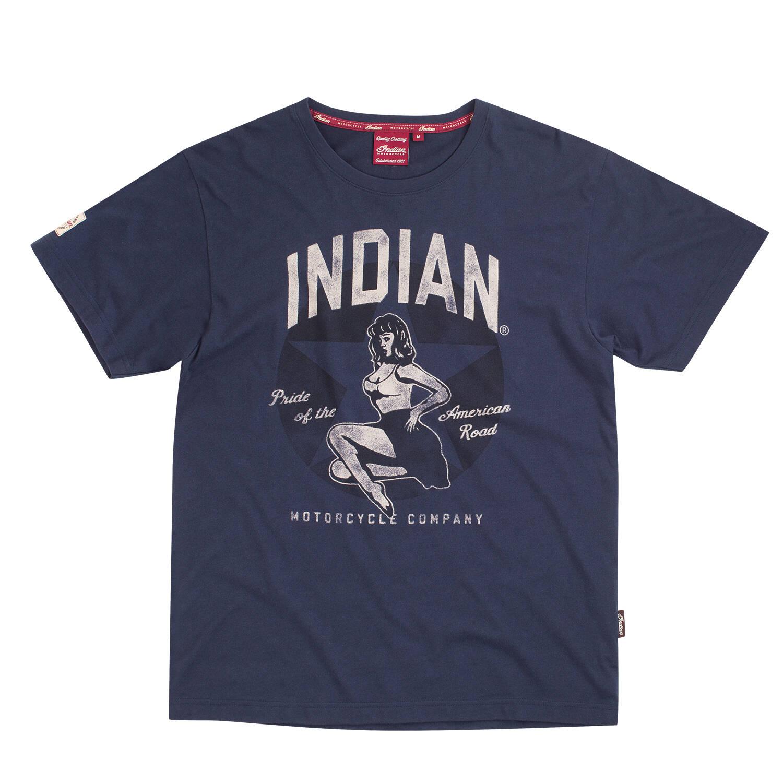 Men's Retro Bomber Girl T-Shirt, Navy