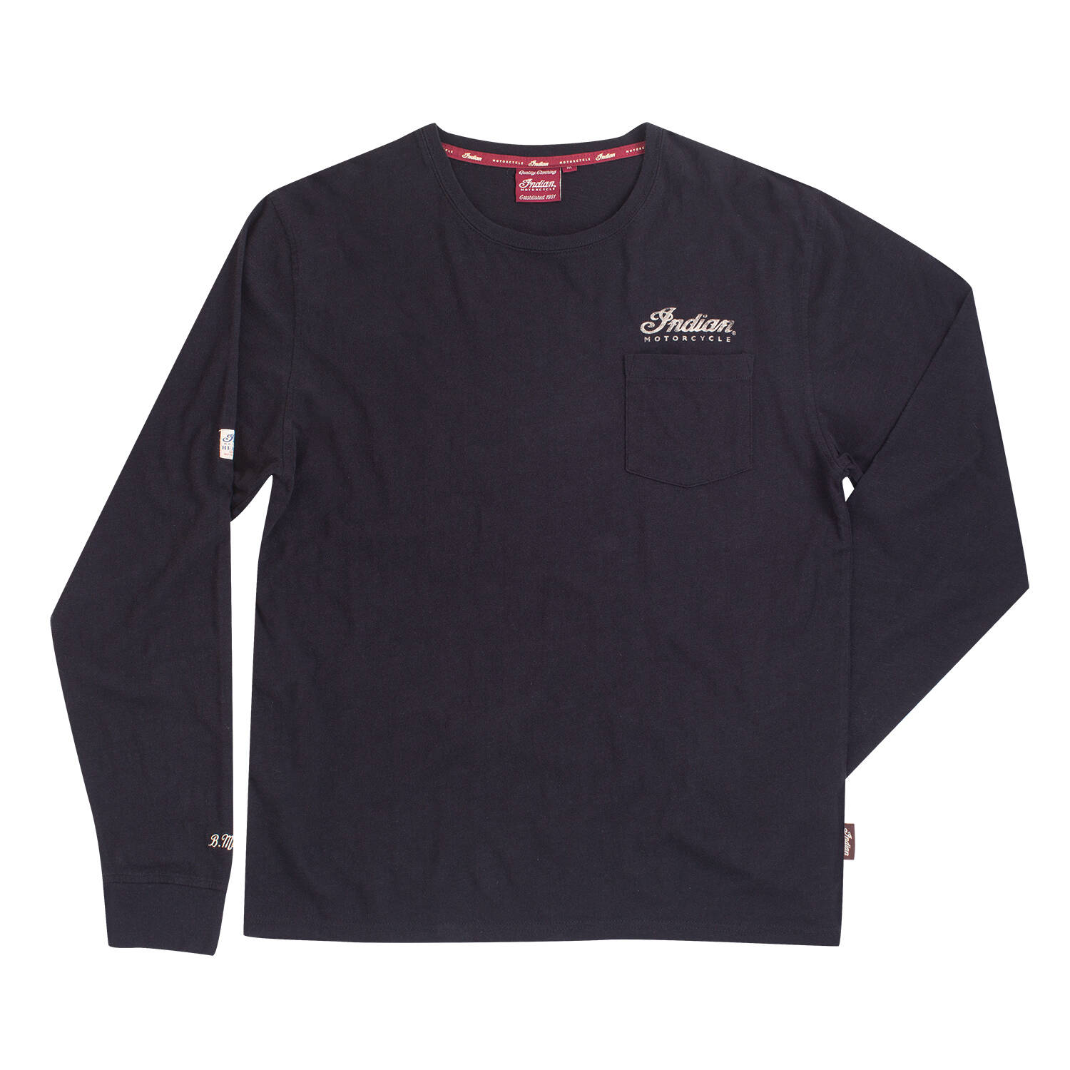 Men's Long-Sleeve Pocket T-Shirt with Munro Special Graphic, Black