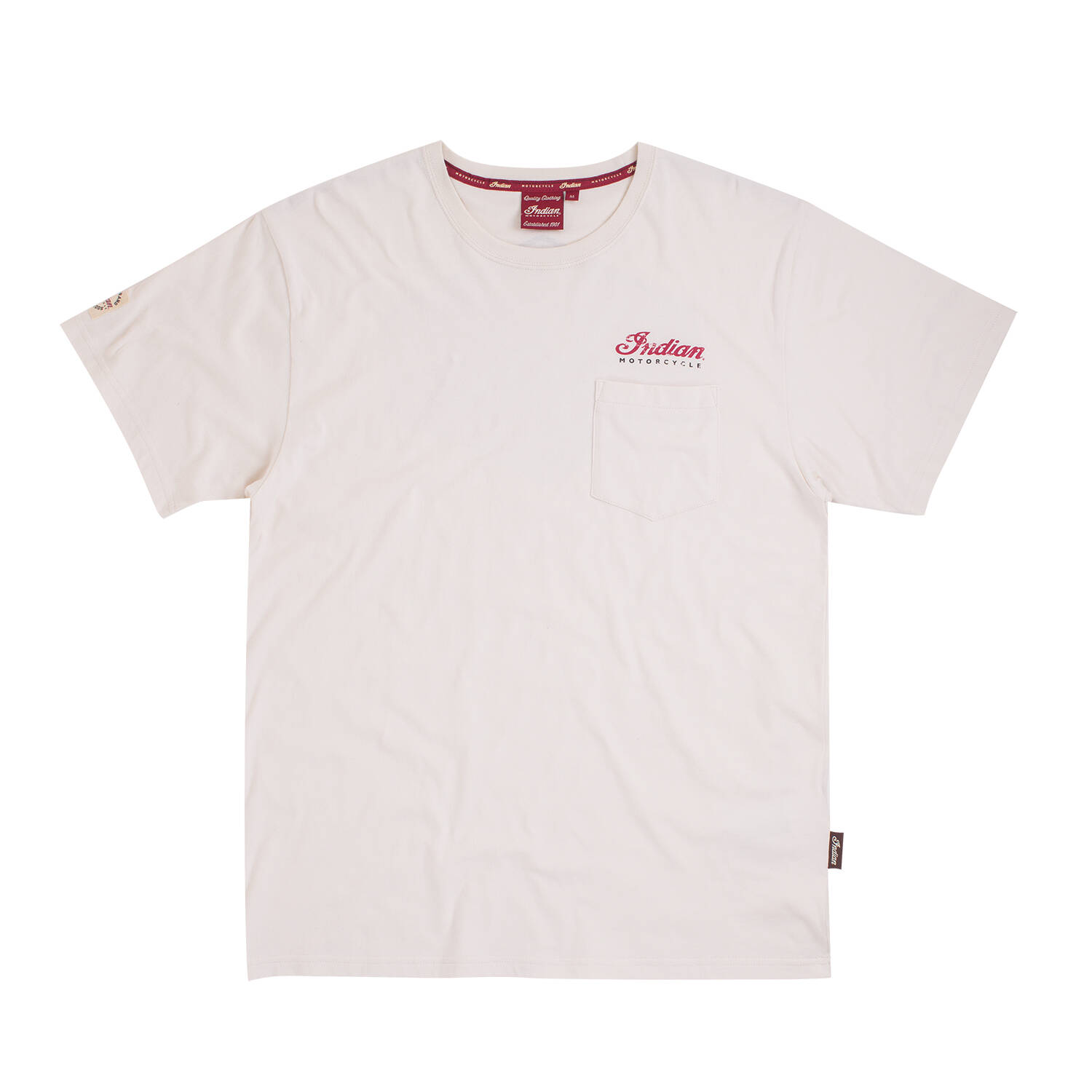 Men's Pocket T-Shirt with Scout Reborn Graphic at Back, White