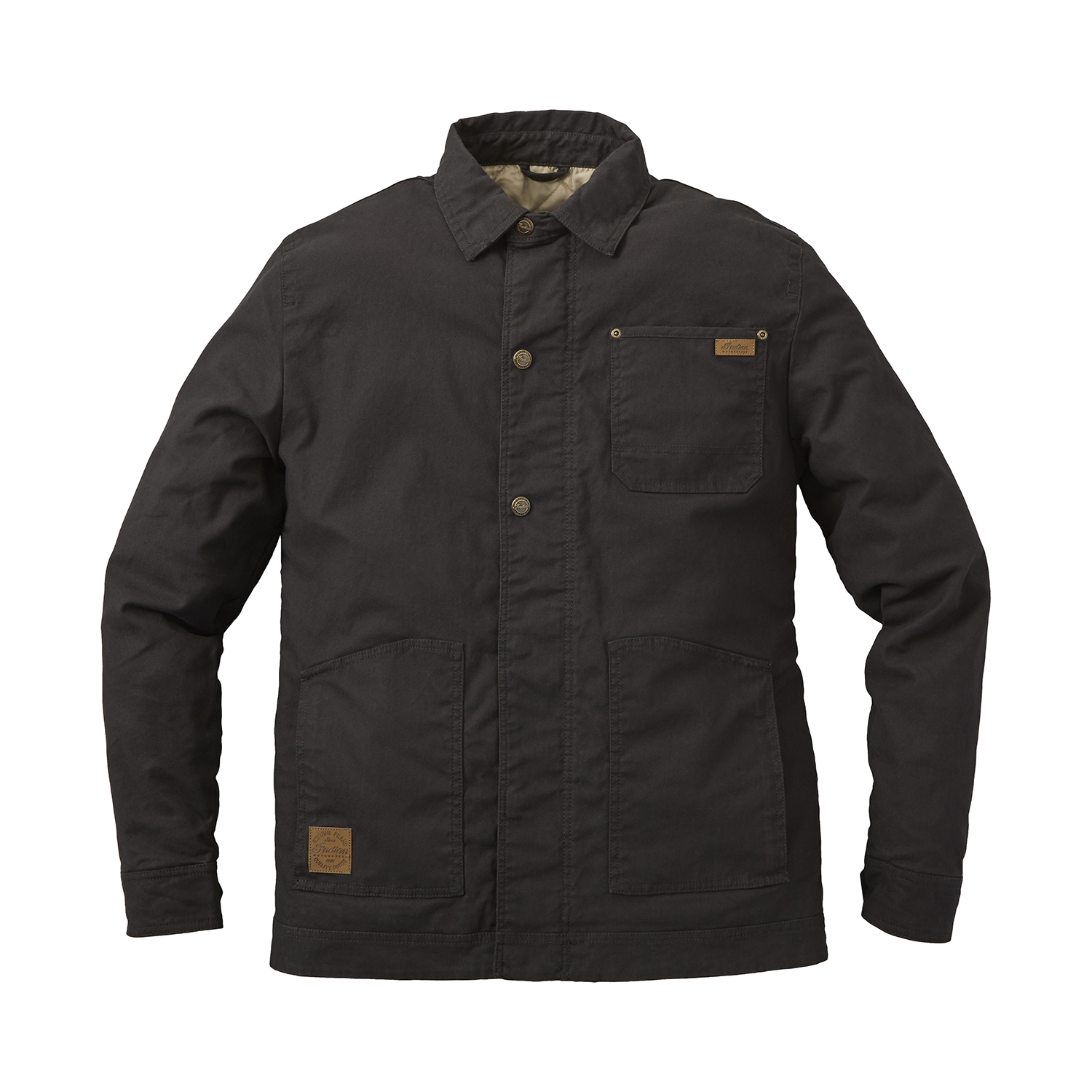 Men's Casual Canvas Ravel Utility Jacket, Washed Black