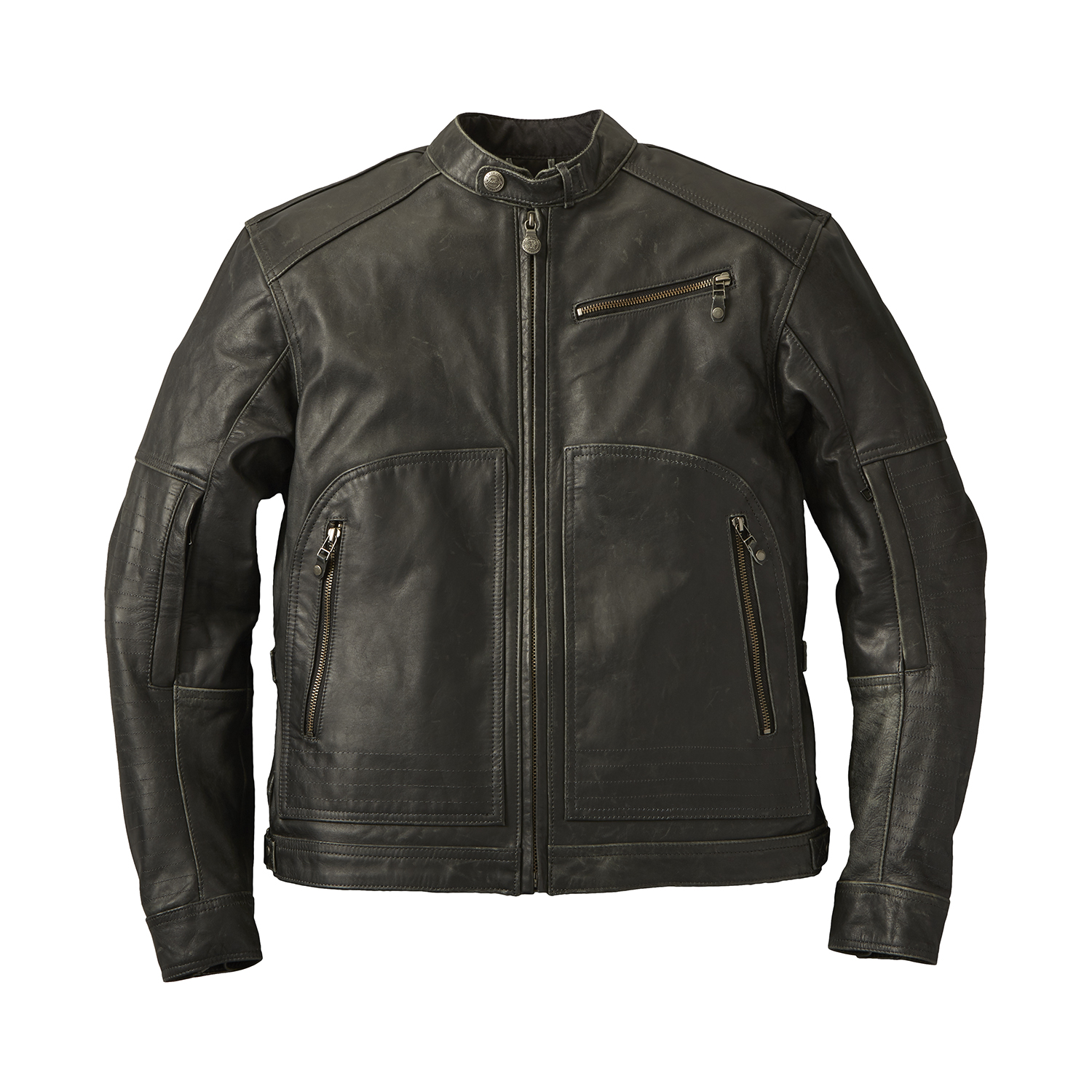 Men's Leather Phoenix Riding Jacket with Removable Lining, Black