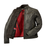 Men's Leather Phoenix Riding Jacket with Removable Lining, Black - Image 3 of 7