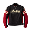 Men's Textile Flat Track Racing Riding Jacket with Removable Lining, Black/Red - Image 2 of 3