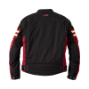 Men's Textile Flat Track Racing Riding Jacket with Removable Lining, Black/Red - Image 4 of 7
