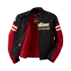 Men's Textile Flat Track Racing Riding Jacket with Removable Lining, Black/Red - Image 3 of 7