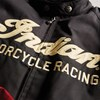 Men's Textile Flat Track Racing Riding Jacket with Removable Lining, Black/Red - Image 6 of 7