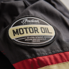 Men's Textile Flat Track Racing Riding Jacket with Removable Lining, Black/Red - Image 7 of 7