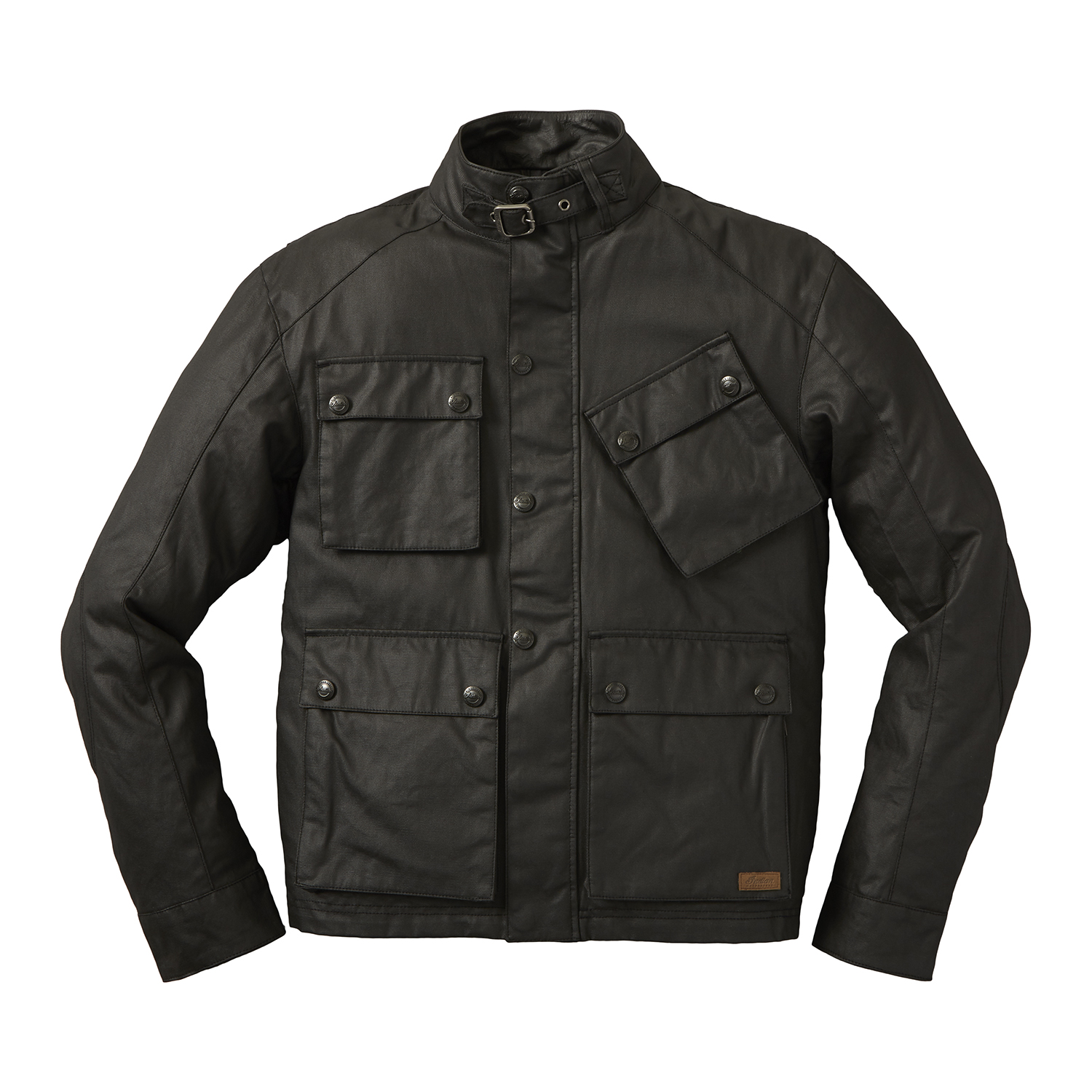 Men's Casual Coated Canvas Lexington Jacket, Black